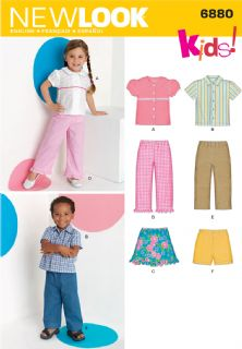 6880 New Look Pattern: Toddler's Separates